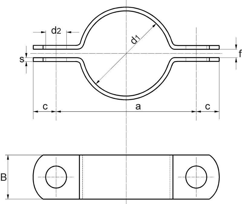 obejma DIN 3567 typ A